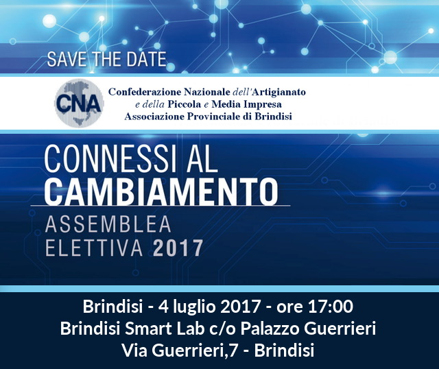 Save the Date Assemblea elettiva 2017 Brindisi